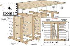 #workbench with wood storage