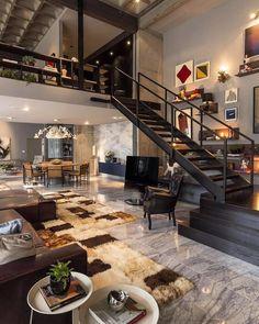 """24.2 mil Me gusta, 119 comentarios - Interior Design & Architecture (@homeadore) en Instagram: """"Loft 44 by CASAdesign Interiores """""""