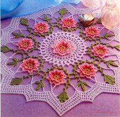 Todo para Crear ... : Centros de mesa en crochet