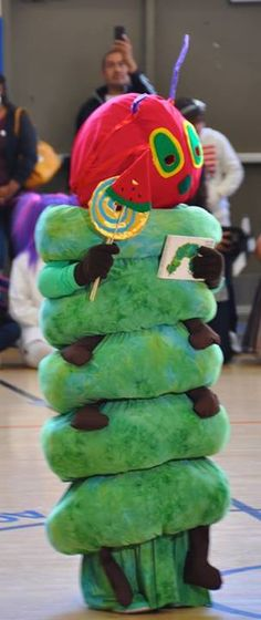 The Very Hungry Caterpillar homemade costume. Vega family crafts.
