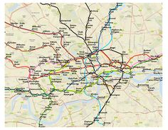 Check out this 'geographically accurate' map of London's underground. Thank goodness for the simple version we are used to :)