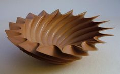 Spirax bowl in pear wood by Andrew Mason
