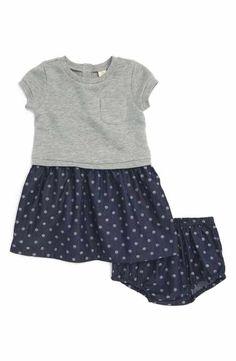 Tucker + Tate Knit & Woven Dress (Baby Girls)