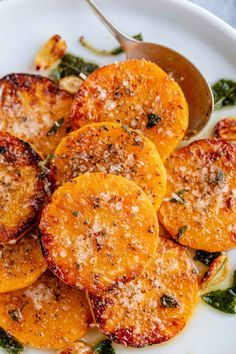 Roasted Garlic Butter Parmesan Butternut Squash - - Melt-in-your-mouth and packed with flavor - restaurant-quality side dish ahead! Savory Butternut Squash Recipe, Butter Squash Recipe, Oven Roasted Butternut Squash, Garlic Butter, Butternut Squash Casserole, Baked Garlic, Roasted Garlic, Side Dish Recipes, Vegetable Recipes