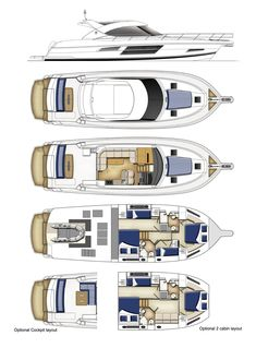 Riviera 5000 Sport Yacht Next Generation with Zeus | Layout