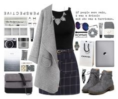 """""""Romwe 7"""" by scarlett-morwenna ❤ liked on Polyvore featuring Miss Selfridge, NLY Accessories, Holga, Cowshed, Una-Home, Perricone MD, Dermalogica, Aesop, 7 Chi and Falke"""
