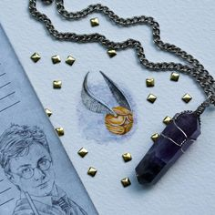 Golden Snitch - Harry Potter. Creative Miniature Paintings. To see more art and information about Rachel Beltz click the image.