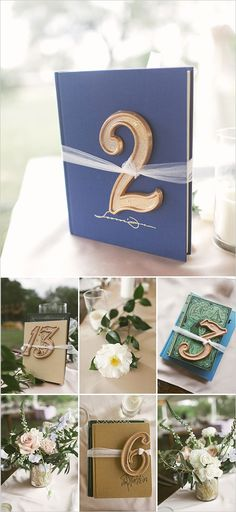 Table numbers tied to classic books for an easy and affordable DIY wedding element. Captured By: Sunny 16 Photography --- http://www.weddingchicks.com/2014/05/29/vintage-reception-with-steal-worthy-ideas/