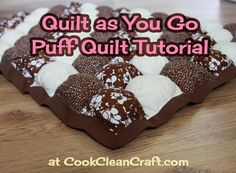 Quilt as You Go Puff Quilt Tutorial #sewing #quilting