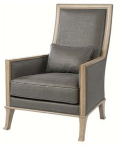 Riley Linen Occasional Chair, Charcoal
