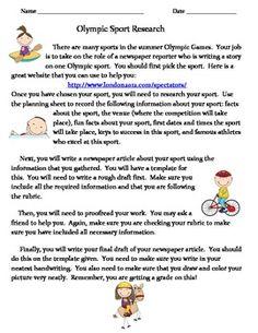 olympics essay for children