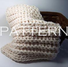 Chunky Fisherman Throw Baby Blanket - Crochet PATTERN PDF via Etsy.