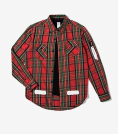 2017 Autumn Hit Color Plaid Striped MA-1 Ribbon Pocket Arc Hem Extended Shirts Fashion Street Hip Hop Male Long-sleeved Shirt
