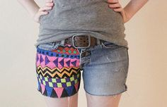 DIY Tutorials für gedruckte Shorts - Still Trends Diy Shorts, Diy Jeans, Party Fashion, Diy Fashion, Fashion Brands, Womens Fashion, Fashion Jewelry, Diy Clothes Refashion, Diy Clothing