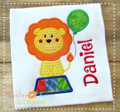 A sweet Circus lion with a Balloon. Great for birthdays or a trip to the circus.