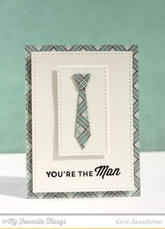 For the Boys, Cross-Stitch Rectangle STAX Die-namics, Terrific Ties Die-namics - Karin Åkesdotter  #mftstamps