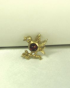 30% off sale until 11/23/15 A tiny #vintage #bird perched on a #branch pin…