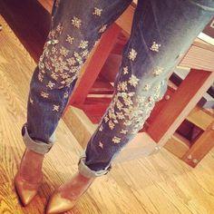 DIY: christopher kane x j. brand embellished jeans. - ...&& caramel makes everything sexier.