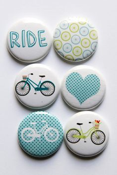 Estos son una pulgada toque botones con un tema de bicicleta. En este juego hay 6 botones.