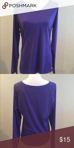 Long sleeve Reebok purple running shirt Long sleeve running/athletic shirt Reebok Tops