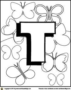 Kleurplaten Letter T.96 Beste Afbeeldingen Van Taal Letter Kleurplaten