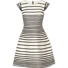 Halston Heritage Striped cotton and silk-blend dress found on Polyvore