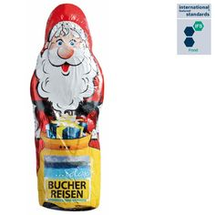 Schokonikoläuse dürfen in keiner Weihnachtssaison fehlen - am besten, wie hier, mit eigenem Firmenlogo bedruckt Ronald Mcdonald, Fictional Characters, Company Logo, Corporate Gifts, Schokolade, Weihnachten