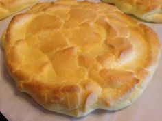 """CLOUD BREAD * gluten-free, fat-free, sugar-free ** just eggs, plain Greek yogurt, Cream of Tartar and Kosher salt ** FAST & EASY to make * large """"slices"""" for sandwiches or to eat as-is ** soft & puffy with a firmer outside **"""