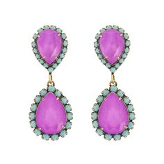 ABBA EARRINGS IN ELECTRIC/TURQ - Loren Hope, very pretty in turquoise and purple, jewelry