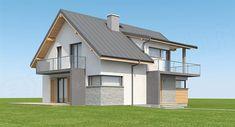 Projekt domu Aosta II Termo 130,27 m2 - koszt budowy 191 tys. zł - EXTRADOM Home Fashion, Gazebo, Outdoor Structures, House Design, Mansions, Architecture, House Styles, Outdoor Decor, Houses