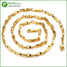 xuping jewelry 24k gold jewelry fashion long gold chain necklace