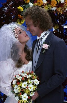 """Laura (Genie Francis) and Luke (Anthony Geary) put their turbulent past behind them and married on the grounds of the Port Charles mayor's mansion, on Monday, Nov. 16 and Tuesday, Nov. 17, 1981, when ABC Daytime invited the world to tune in to the daytime wedding of the decade, on """"General Hospital"""". The long-awaited nuptials, plus guest star Elizabeth Taylor, served up the highest ratings in soap opera history. #1980s #GH50 #GH"""