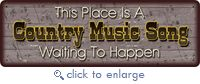 """(RE1432) """"This Place is a Country Music Song Waiting to Happen"""" Humorous Tin Sign - New Items"""