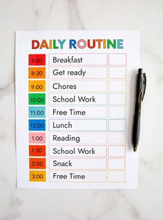 School Schedule Printable, Daily Routine Schedule, Classroom Schedule, Preschool Schedule, Kids Schedule, Family Schedule Board, Routine Printable, Daily Schedule Templates, Classroom Ideas