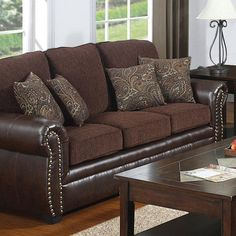 Beck Chocolate Brown Italian Leather Curved Sectional Sofa And Ottoman Ping S On Sofas Pinterest