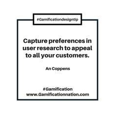 Daily #GamificationDesignTip: Capture preferences in user research to appeal to all your customers #gamification