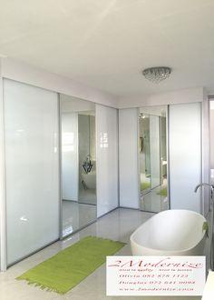 custom made bathroom cupboard sliding doors