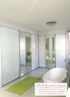 custom made bathroom cupboard sliding doors