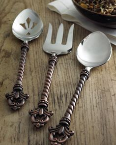 "Three-Piece ""Fleur-de-Lis"" Hostess Set by GG Collection at Horchow."