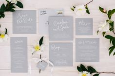 If you're looking for some wedding invitation inspiration, here are eight simply elegant wedding invitations that will take your breath away. Grey Wedding Invitations, Minimalist Wedding Invitations, Wedding Invitation Inspiration, Wedding Logos, Wedding Stationary, Wedding Themes, Wedding Ideas, Wedding Paper, Floral Wedding