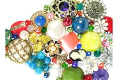 close up of Colorful   Jewelry     Christmas Tree