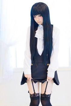 Cute Inu x Boku SS Ririchiyo Shirakiin cosplay girl.