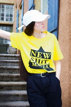 NSM WEAR URBAN COLLECTOR (YELLOW) Urban, The Collector, T Shirt, Yellow, How To Wear, Collection, Fashion, Blunt Haircut, Hale Navy