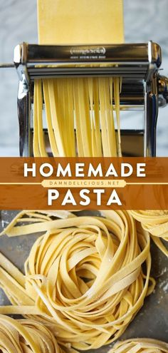 Learn how to make pasta dough! With just 4 ingredients, you can take your pasta recipes to the next level in any shape you like. Nothing beats fresh and homemade! Try it for your next dinner idea — it's so easy! All You Need Is, Pasta Drying Rack, Easy Pasta Recipes, Yummy Recipes, Recipes With Few Ingredients, Pasta Dinners, Fresh Pasta, Pasta Noodles, Homemade Pasta