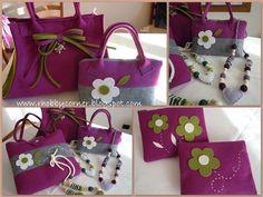 This Pin was discovered by Tuğ Handmade Handbags, Handmade Bags, Macbook Bag, Felt Purse, Wedding Bag, Ribbon Art, Crochet Gloves, Felting Tutorials, Fabric Bags