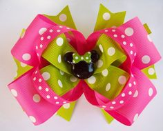 Hey, I found this really awesome Etsy listing at http://www.etsy.com/listing/98722717/pink-and-lime-mouse-head-miss-minnie