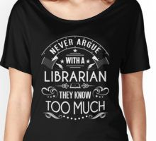 Never Argue with a Librarian! Women's Relaxed Fit T-Shirt Funny Clothes, Funny Outfits, Library Humor, Gifts For Librarians, Book Authors, Books, Book Shirts, Lol So True, Library Ideas