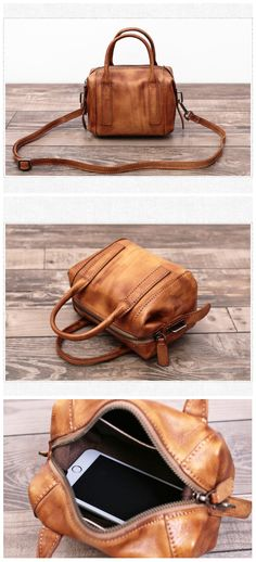 Handmade Full Grain Leather Messenger Bag Cross Body Bag We use genuine cow leather, quality hardware and nylon fabric to make the bag as good as it is. •Adjustable shoulder strap. •Inside zipper pock