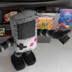 Nintendo Gameboy Robot Plush Toy / Art / Sculpture by RayGunUnDone, $43.50
