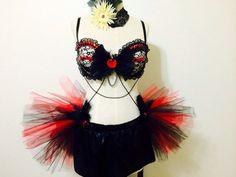 Vintage Burlesque, rave costume, tutu, rave attire, edc, edm, rave outfit on Etsy, $95.00